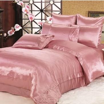 Комплект постельного белья ARYA шелк однотонный Rose
