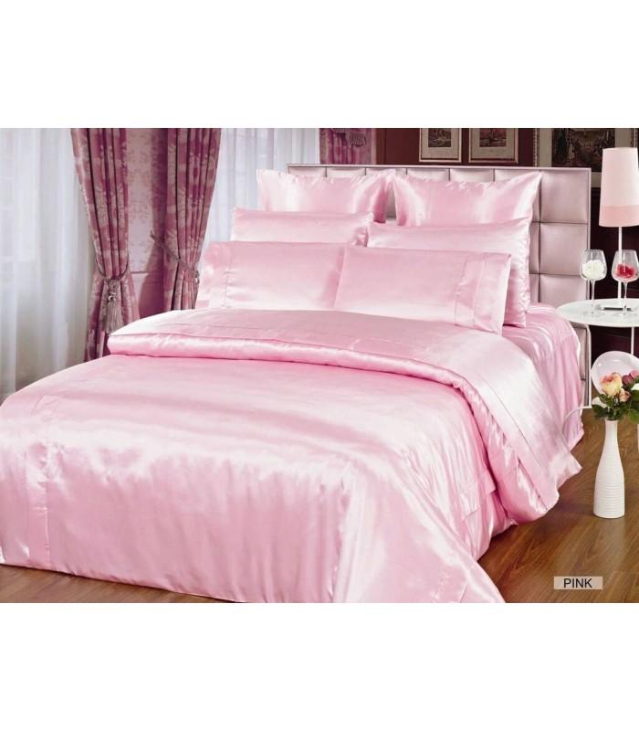 Комплект постельного белья ARYA Шелк Однотонный Pink