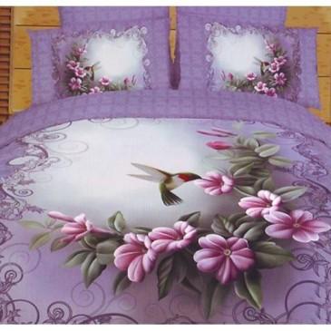 Комплект постельного белья Love You сатин Колибри