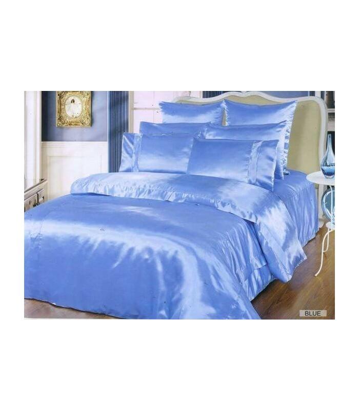 Комплект постельного белья ARYA Шелк Однотонный Blue
