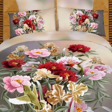 Комплект постельного белья Love You сатин Вернисаж