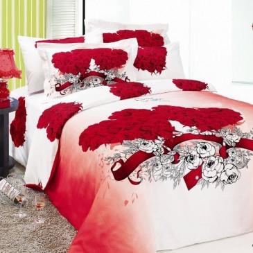 Комплект постельного белья ARYA сатин Angel Red