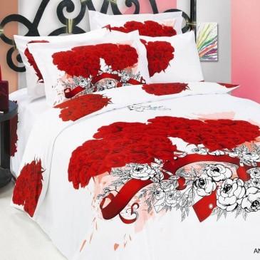Комплект постельного белья ARYA сатин Angel White