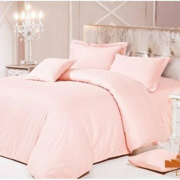 Комплект постельного белья Love You Страйп светло-персиковый 1