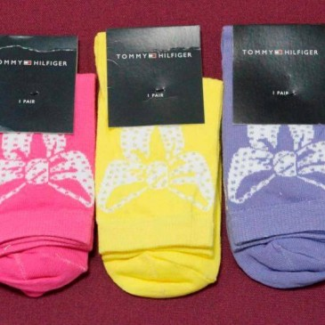Носки Tomy Hilfigerr ликра женские цветные бант